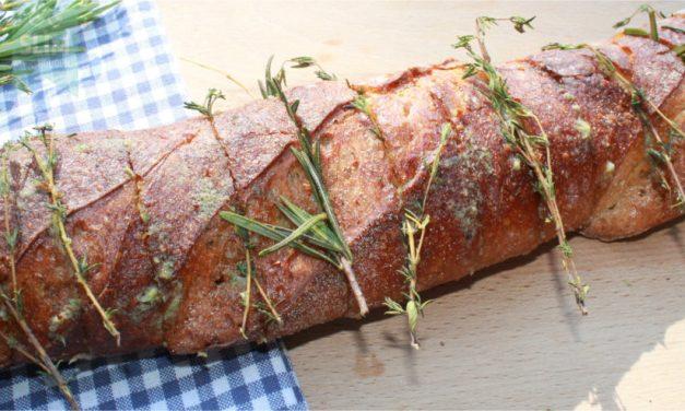 Stokbrood met knoflookboter